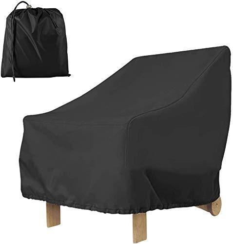 Gartenstuhl Abdeckungen 420D, 80 × 85 × 91cm Schutzhülle für Gartenmöbel Wasserdicht Stuhlabdeckung Oxford Winddicht, UV-Beständiges, Abdeckplane für Gartenstühle Stapelstühle Balkonstühle (210 D)
