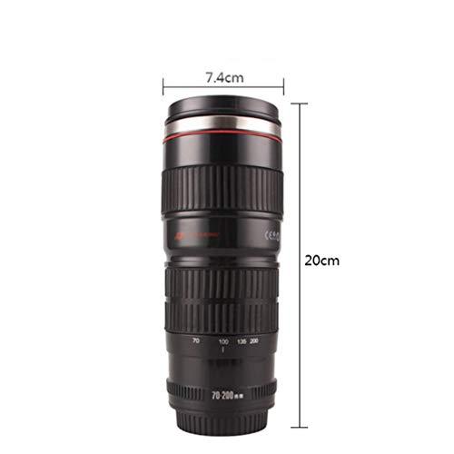 taza termica para café forma de lente objetivo de cámara