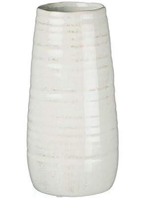 Sullivans Ceramic Vase, 11.5 x 5 Inches, Distressed White (CM2496)