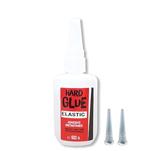 Adhesivo Instantáneo Hard Glue Elastic 50 Gramos Cianoacrilato Pegamento Calzado Secado Rápido Profesional Resistente Para Materiales Porosos Pega Todo Con 2 Aplicadores Micro-gota Contacto
