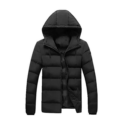N\P Chaqueta de invierno de los hombres gruesa abrigo cálido abrigo de los hombres con capucha abrigo de algodón