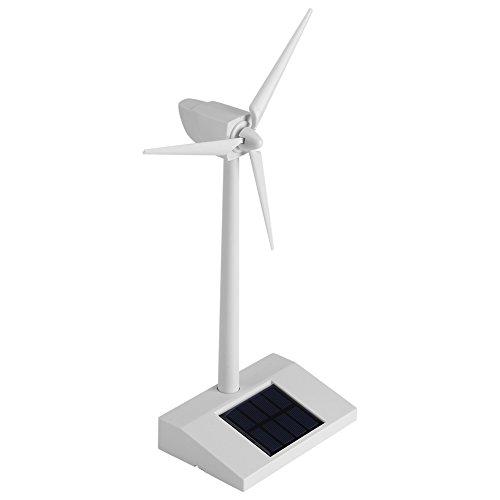 Juguete de molino de viento de energa solar, modelo de escritorio de mini juguete de ciencia, herramienta de enseanza de ciencias para nios de plstico ABS para nios para decoracin del hogar o educacin