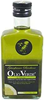 Gianfranco Becchina Olio Verde Extra Virgin Olive Oil with Lemon, 8.45 oz