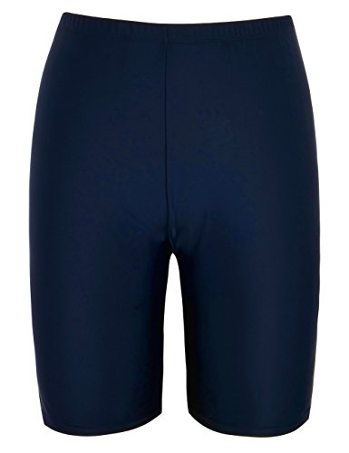 Firpearl Women's UPF50+ Sport Board Shorts Swimsuit Bottom Capris US10 Navy