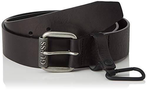 Guess Snap Hook Belt Cinturón, Negro, M para Hombre