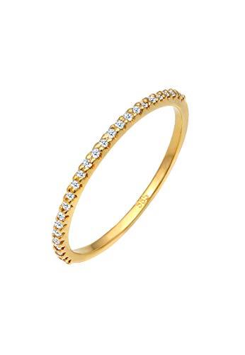 DIAMORE Ring Damen Geo Microsetting mit Diamant (0.25 ct.) in 585 Gelbgold