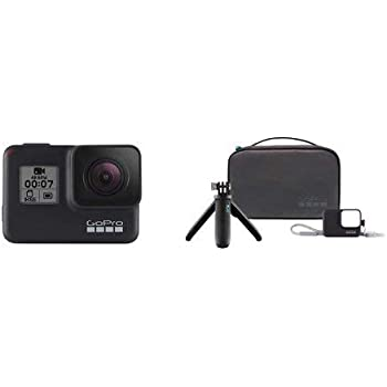 GoPro HERO7 Black — Waterproof Digital Action Camera with Accessory Travel Kit