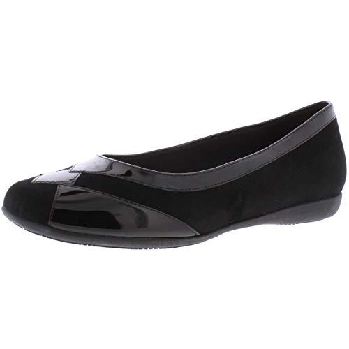 Trotters Women's Sharp Ballet Flat, 9.5 W, Black