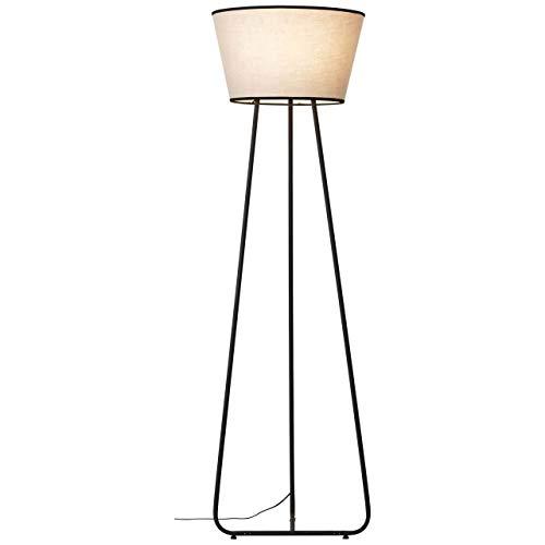 BRILLIANT lamp Amoa vloerlamp 50cm zwart/grijs |3x A60, E27, 10W, geschikt voor standaardlampen (niet inbegrepen) |Schaal A ++ tot E |Met voetschakelaar