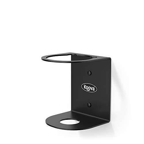Koova Spray Can Holder for One Can of Paint, Compressed Air, Lubricant Sprays, and Arts and Crafters Aerosols, Wall Mounted Steel Rack Storage Organizer for Garage and Workspace, Black