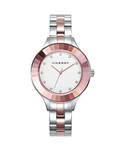 Viceroy Chic - Reloj para Mujer Acero Bicolor Oro Rosa 471246-09