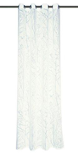 Schöner Wohnen 50137-030-140-245 Ösenschal Twig 140 x 245 cm, weiß