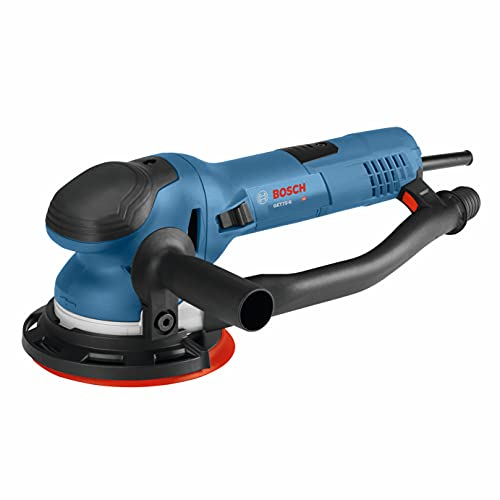 Product Image of the BOSCH Power Tools - GET75-6N - Electric Orbital Sander, Polisher - 7.5 Amp, Corded, 6'' Disc Size - features Two Sanding Modes: Random Orbit, Aggressive Turbo for Woodworking, Polishing, Carpentry
