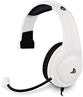 Officially Licensed 4Gamers PRO4 Chat Gaming Headset for Sony Playstation 4 PS4 - White/Black (PS4)