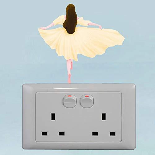 YCEOT Zomer Meisje Rok Cartoon Schakelaar Sticker PVC Muursticker