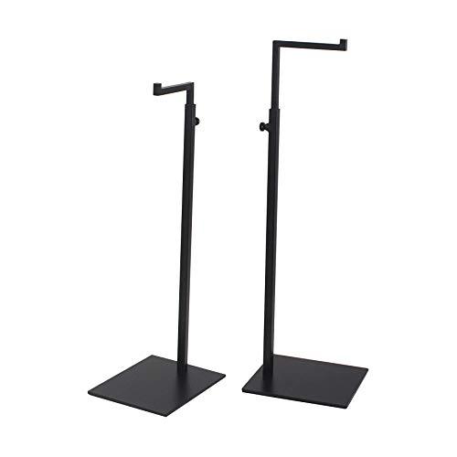 YIFU DISPLAY 2 Pack Black Bag Handbag Display Stand - Retail Countertop Adjustable Height Purse Display Stands Rack - Metal Purse Display Holder for Trade Show