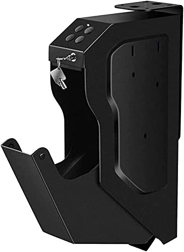 AACXRCR Portatile Mini Scatola sicura della pistola - Cassaforte per armadietti da scrivania con codice digitale e blocco chiave, facile da installare sui comodini, scrivania, armadi, servizi igienici