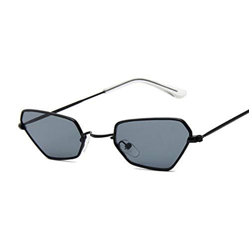 Astemdhj Gafas de Sol Sunglasses Gafas De Sol Retro Pequeñas con Forma De Ojo De Gato para Mujer, Gafas De Sol De Color Amarillo De Metal Vintage, Gafas De Sol para Mujer, DiseñadAnti-UV