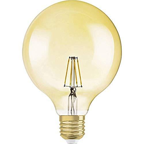 Osram LED Vintage Edition 1906 Lampe, in Ballform mit E27-Sockel, dimmbar, Ersetzt 55 Watt, Klar, Warmweiß - 2500 Kelvin, 1er-Pack