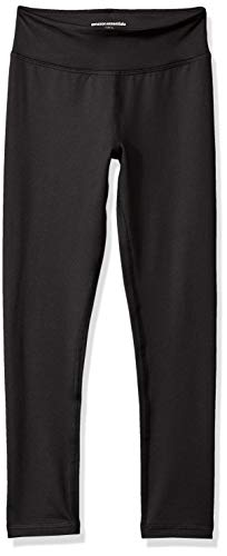Amazon Essentials - Leggins largos de deporte para niña, Negro, US XS (EU 104-110 CM)