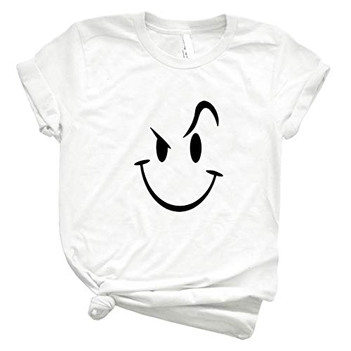 Evil Acid House Smiley Smily Face Mens 19 - T-Shirt for Boys Women Vintage Customize Trending Unisex Shirt