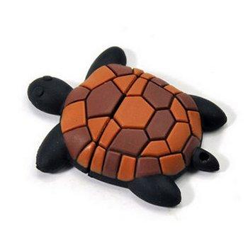 Schildkröte USB Stick 16 GB - Memory Stick Daten Speicher - Turtle Pen Drive - Speicherstick - Braun und Schwarz