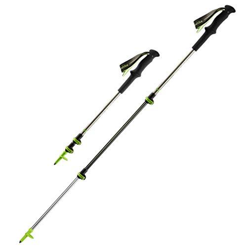 WXL Ultraleichte Carbon-Trekkingstöcke von Crutches verriegeln teleskopische Carbon-Krücken, die Kletterausrüstung for das Bergsteigen im Freien bieten (Color : Silver)