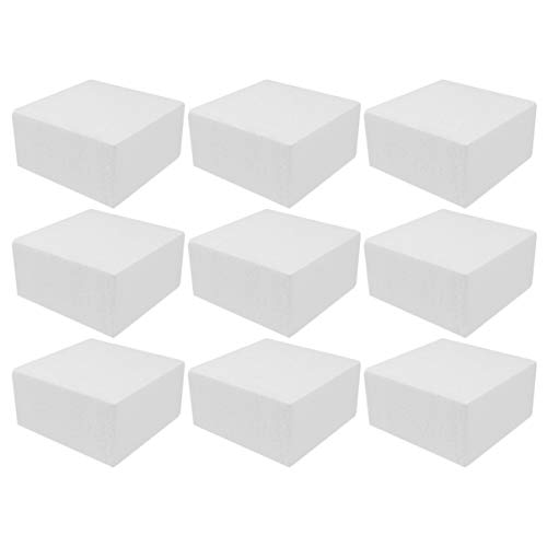 Artibetter Bloque de espuma artesanal de 24 piezas ladrillo de espuma de poliestireno cuadrado de 24 paquetes para escultura modelado manualidades y manualidades