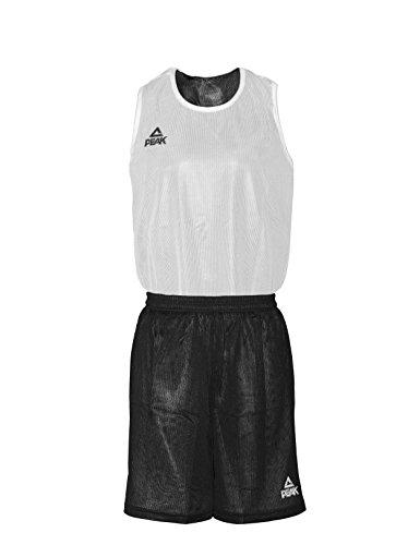Peak Sport Europe Basketball Wendeset Reversible Trikot Set Iowa Schwarz-weiß, XXXS