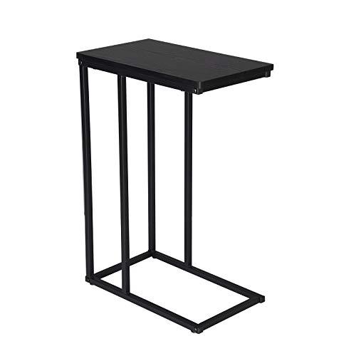 WOLTU® Beistelltisch TSG17sz Kaffeetisch Couchtisch Sofatisch Nachttisch Betttisch Laptoptisch, Gestell aus Metall, Tischpltte aus Holz, 45x25x63,5cm(BxTxH), Schwarz
