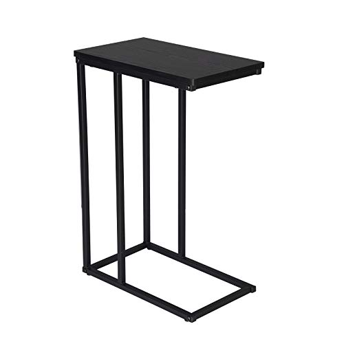 WOLTU End Table Side Table Coffee Table Black for Coffee Laptop with Metal Frame Nightstand Table Beside Table TSG17sz