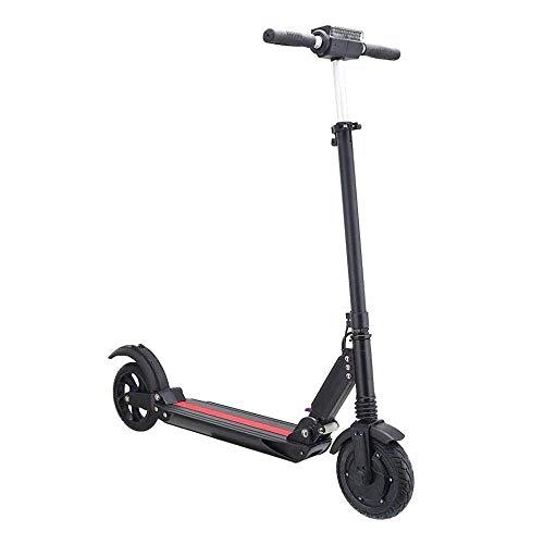 DDL Elektro-Scooter Faltbarer elektrische Skateboard, mit Lithium-Batterie, Display, 30 km/h, 30 km Kilometerstand, Reise zu und von der Arbeit, Schule, Zwei-Rad, Schwarz
