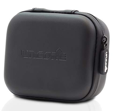 Uncorex Tasche für JBL Go 2, Harter Eva Schutzhülle | Schutztasche für Bluetooth Lautsprecher | Kopfhörer - Netztasche für Ladegeräte und Kabel - Aufbewahrungsbox