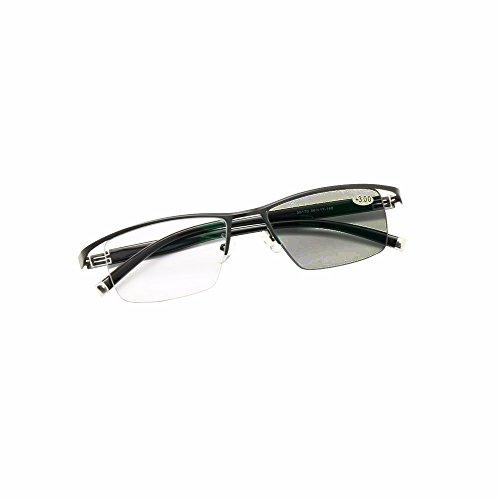 progressieve, fotochromatische leesbril Multifocal Geen lijn + progressieve zonnebril Rx 0 tot +300 in 25 stappen