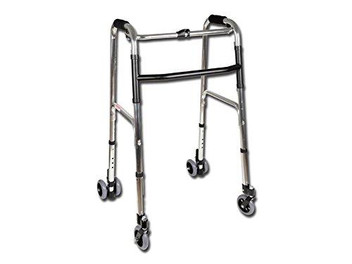 GIMA 43130 andador de 4 ruedas, rodillo, plegable movilidad ayuda a caminar, caminador anciano, rodillo ligero