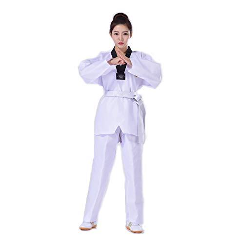 BBLAC 2KEY B2KEY®Sportbekleidung Taekwondo Karate Aikido-Anzug Erwachsene Taekwondo-Anzug Taekwondo-Uniform für Kinder Kampfsport-Trainingsoutfit Judo Taekwondo-Trainingshose mit V-Ausschnitt (170)
