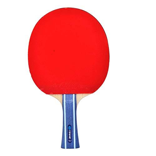 KCGNBQING Murciélagos de Tenis de Mesa Profesional con Estuche de Transporte, 7 Estrellas Ping Pong Bate, Adecuado for Juegos Interiores y Exteriores/como se Muestra/Mango Largo
