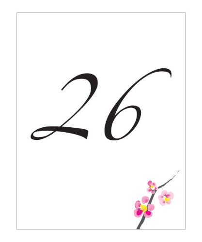 Cherry Blossom Table Number Cards 1-12