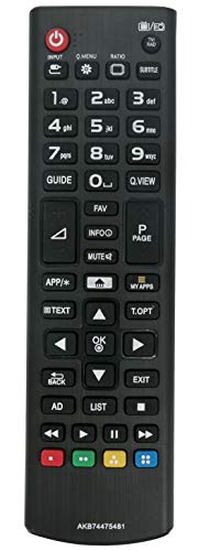 ALLIMITY AKB74475481 Control Remoto reemplazado por LG TV 47LN570V 47LN5708 47LB610V 47LB5700 47LA667V 45UF680V 45UF6807...