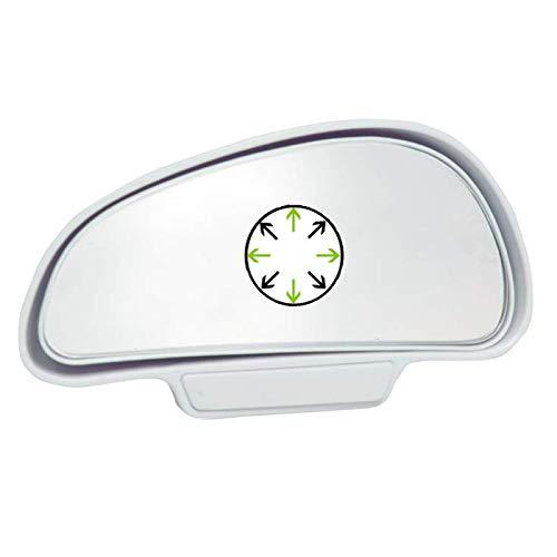 I23D TOP KFZ Auto Toter Winkel Spiegel Außenspiegel Blindspiegel Fahrschulspiegel zusatzspiegel Auto (Weiß Links)