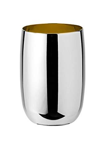 Stelton, acier inoxydable, argenté, hauteur 10 cm, diamètre 7 cm.
