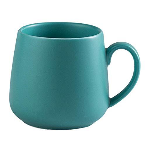 AOARR Getöpferte Tassen Cup 320Ml Keramik Kaffeetasse Kreative Matte Pure Farbe Kaffeetassen Becher Tasse Tee Milch Latte Porzellan Neuheit Becher Niedliche Tassen-Grün_320_Ml