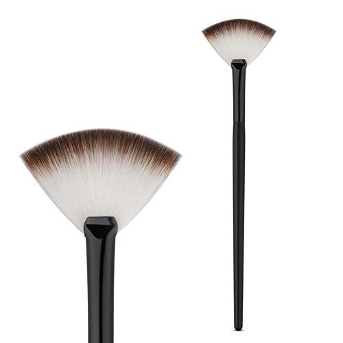 HZD Fan Shape Powder Concealer Blending Brush Professional Highlighter Foundation Cosmetic Brush Women Make Up,Black