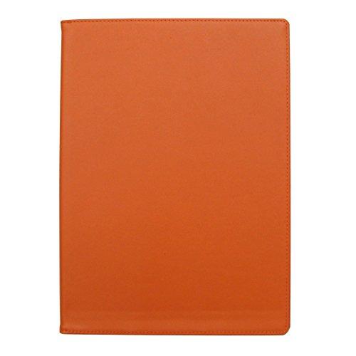 手帳カバー A5 オレンジ ノートカバー ブックカバー 無地 横開き 合皮 手帳式 PUレザー