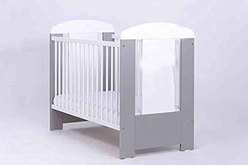 Cuna de pino natural no tóxico pintura verde móvil 2 peldaños ideal para su uso en una habitación infantil,Grey