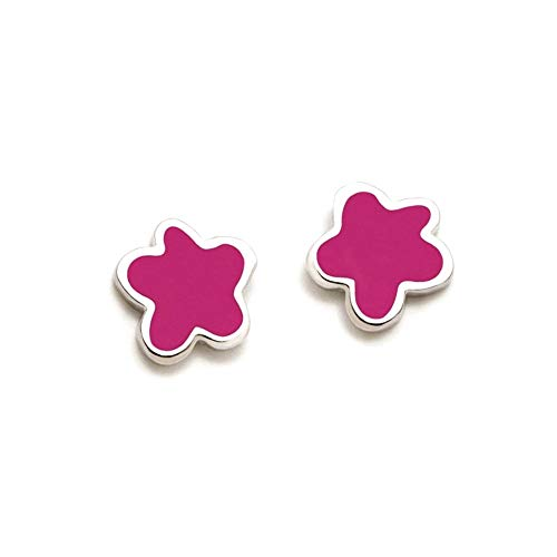 Pendientes plata Agatha Ruiz de la Prada 6mm. flor rosa [AB5832]