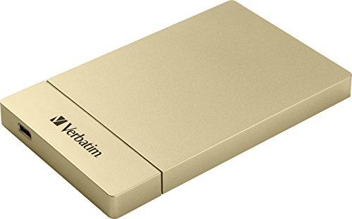 Verbatim 53104 Discos Duros externos Almacenamiento de Datos Unisex Juvenil, Oro