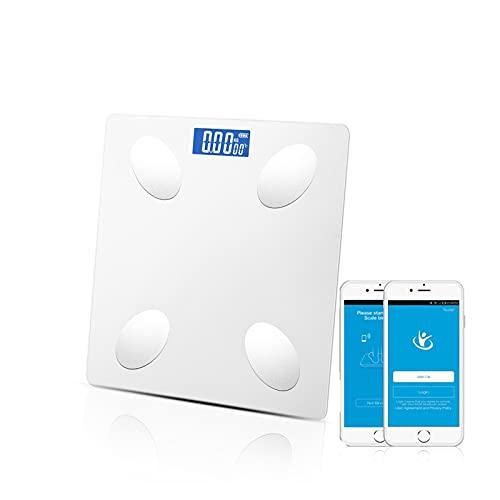 Báscula de baño Baño de pesas escala inteligente electrónica. BMI Escala de escala de grasa corporal inalámbrica digital DIRIGIÓ Analizador de composición corporal Preciso, tamaño pequeño, fácil de al