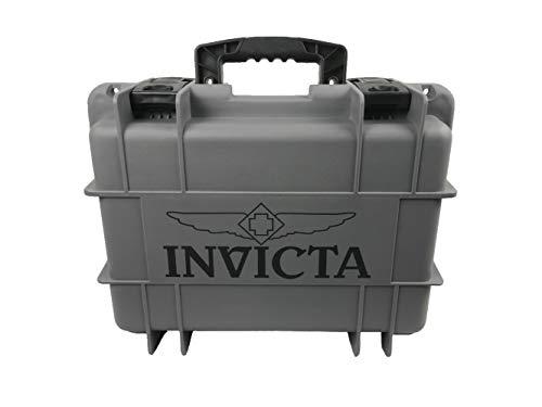 Invicta DC8CHCL- 8 Slot Grey Plastic Watch Box Case