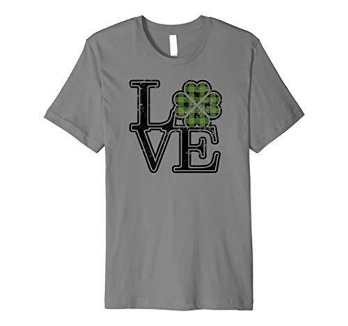 Love Hearts & Shamrock Style St Patricks Day Fun Holiday Tee Premium T-Shirt
